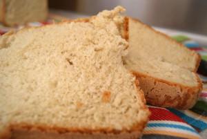 Pan blanco con panificadora