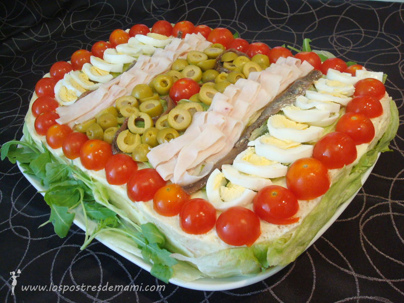 Tarta vegetal los postres de mami recetas f ciles y dulces for Cena fria para amigos