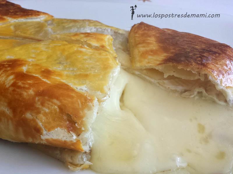 Hojaldre con queso brie