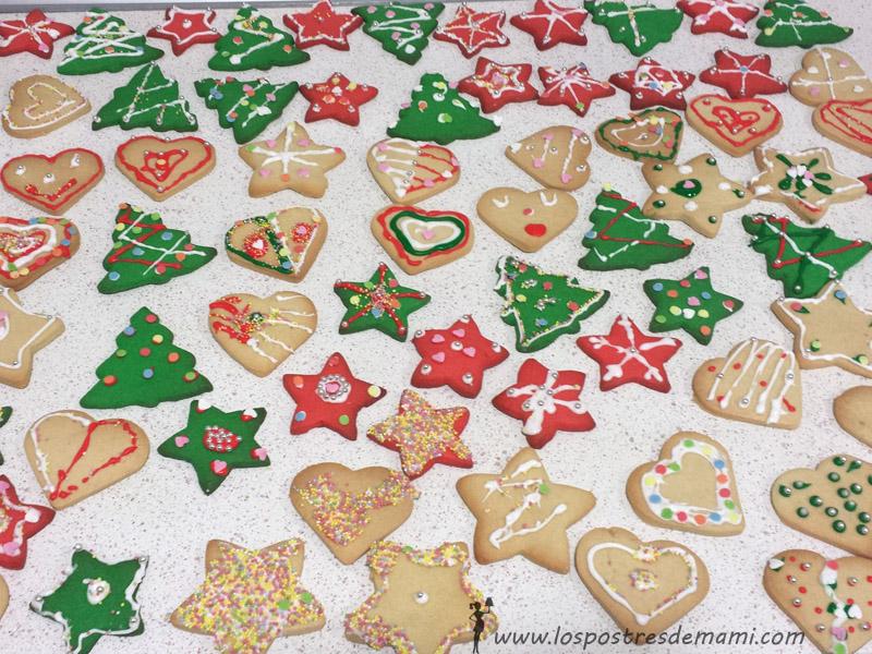 Galletas con glasa Navidad