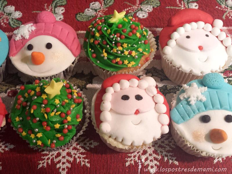 Como hacer cupcakes navidenos
