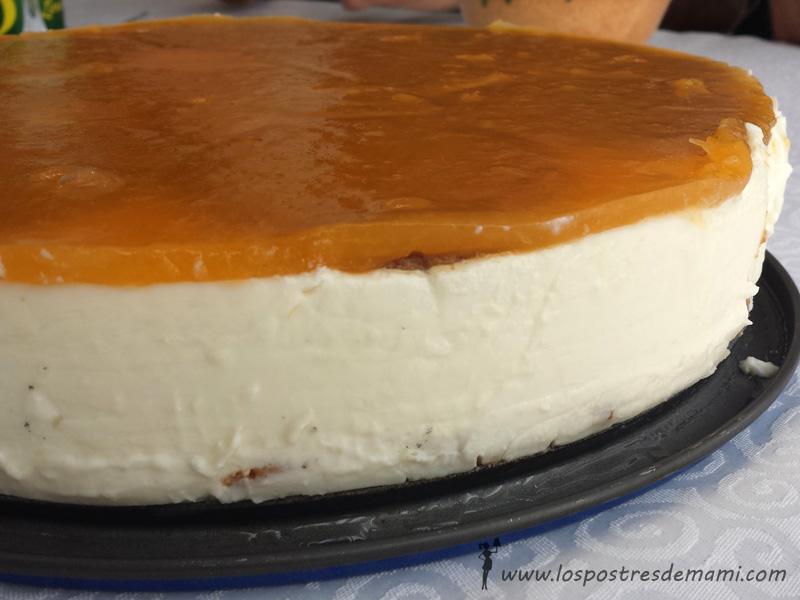 tarta de queso y nata