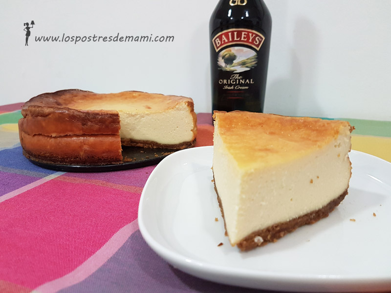 Tarta de queso con chocolate y Baileys Thermomix